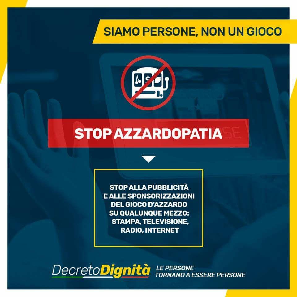 Stop azzardopatia