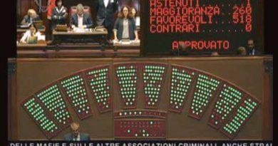 Approvata commissione antimafia alla Camera dei Deputati