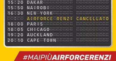 Mai più AirForce Renzi