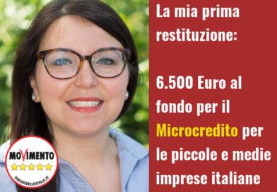 Teresa Manzo M5S Primi 6500 Euro Microcredito Imprese