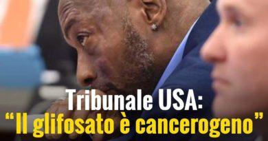 Tribunale USA: il glisofato è cancerogeno