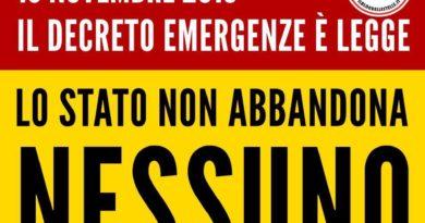 Il decreto emergenze è legge