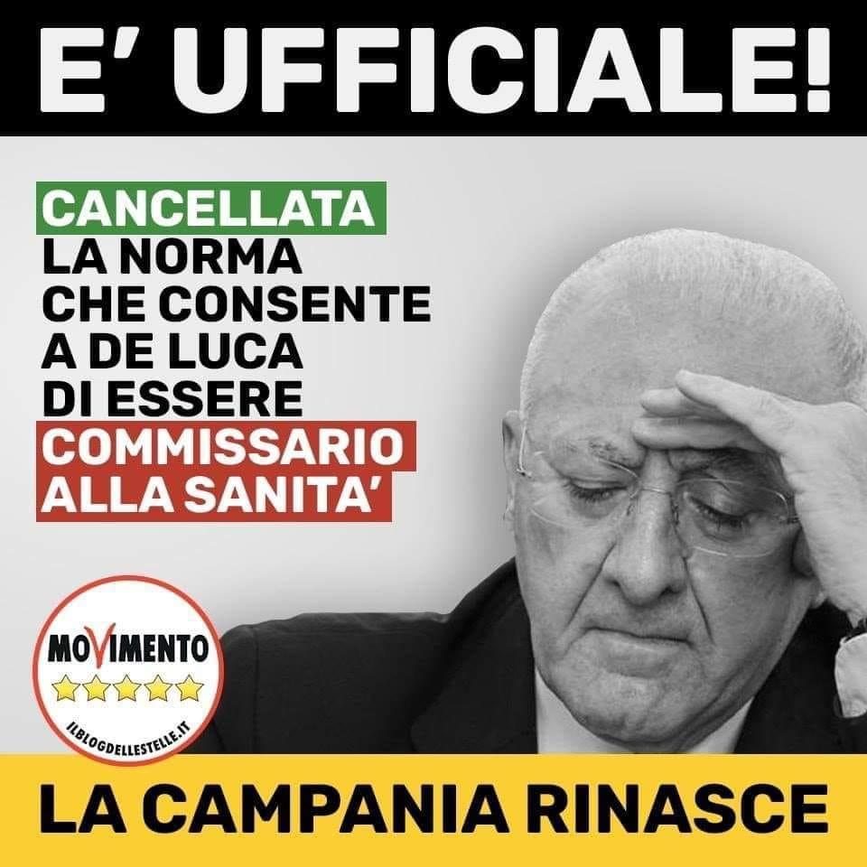 De Luca No Sanità Campania