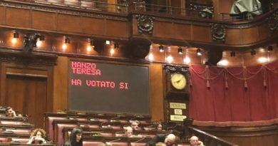 Teresa Manzo Voto Favorevole Governo