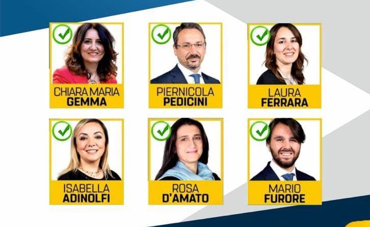 Eletti M5S 2019 Circoscrizione Meridionale