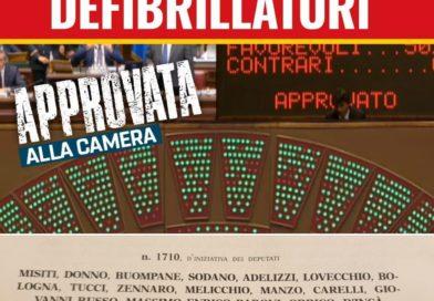 Proposta di legge defibrillatori approvata alla Camera