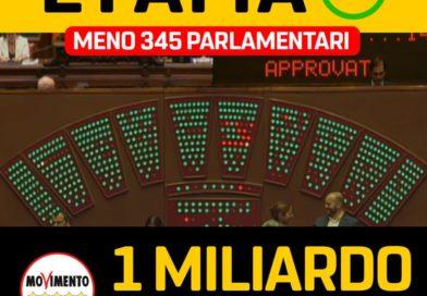 Il taglio di 345 parlamentari è legge!