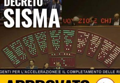 Decreto Sisma approvato