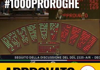 Il Decreto 1000 Proroghe è stato approvato alla Camera!