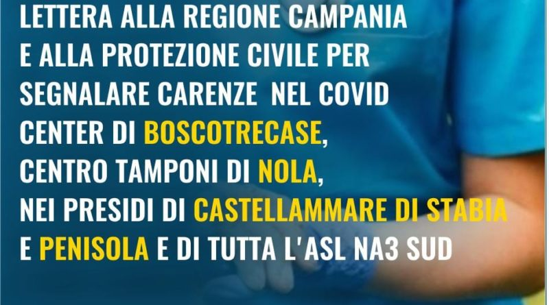 Lettera alla regione Campania e alla Protezione Civile